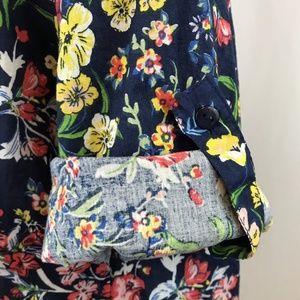 Eden & Olivia Tops - Eden & Olivia Long Sleeve Roll-Up Popover Shirt